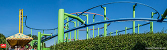 Sky Rider - Spinning suspended roller coaster at Sky Line Park in Germany