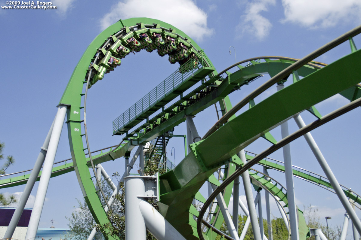 Roller coasters at Isl...