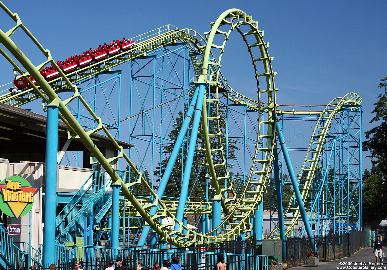 Wild thing wild thing starts with a vertical loop and ends with two