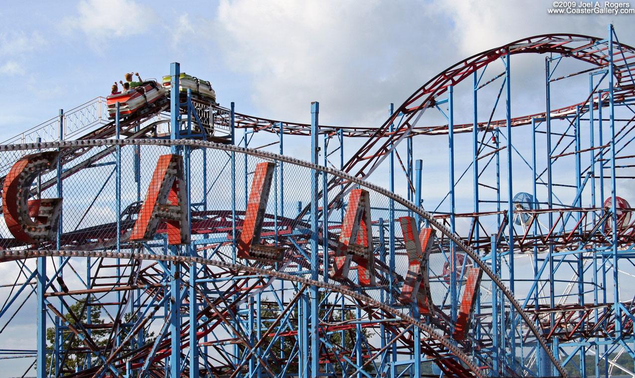 galaxi roller coaster on oneida lake