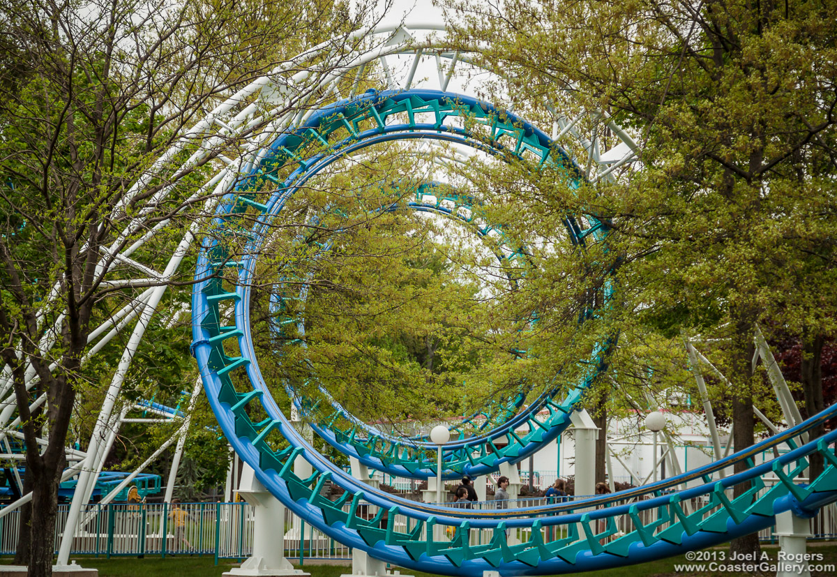 Roller coaster formerly called the Chicago Loop at Old Chicago & Canobie Lake Park