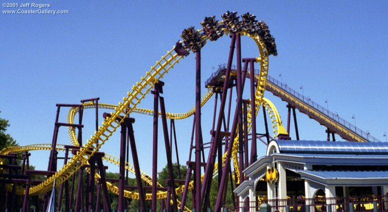 Batwing roller coaster from Six Flags America in Maryland