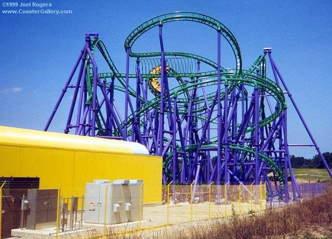 Joker 39 S Jinx Launched Roller Coaster